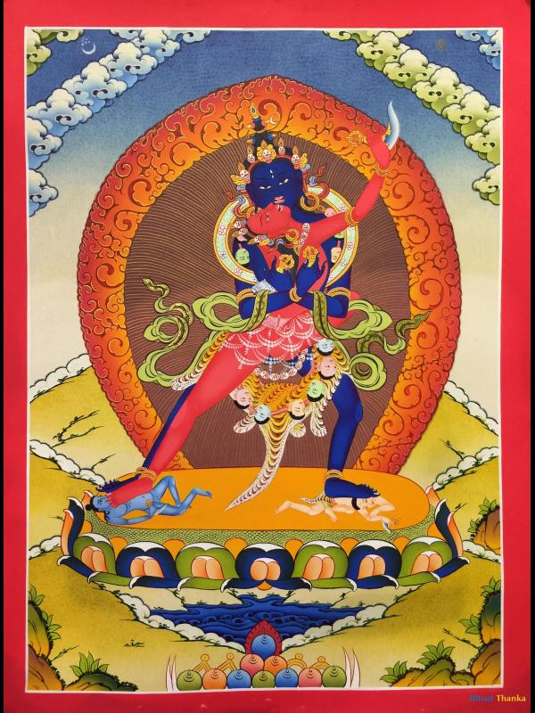 Astonishing thanka of Chakrasamvara