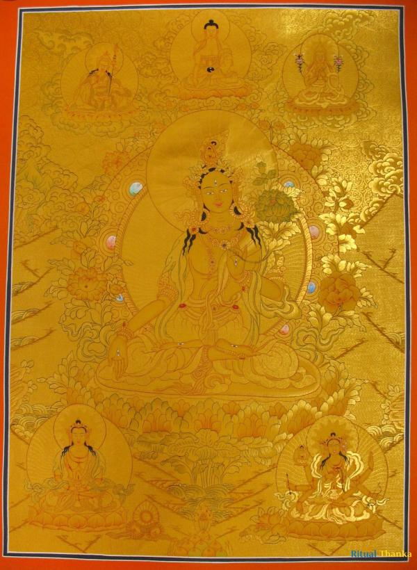 White Tara the Goddess Of Longevity of Life