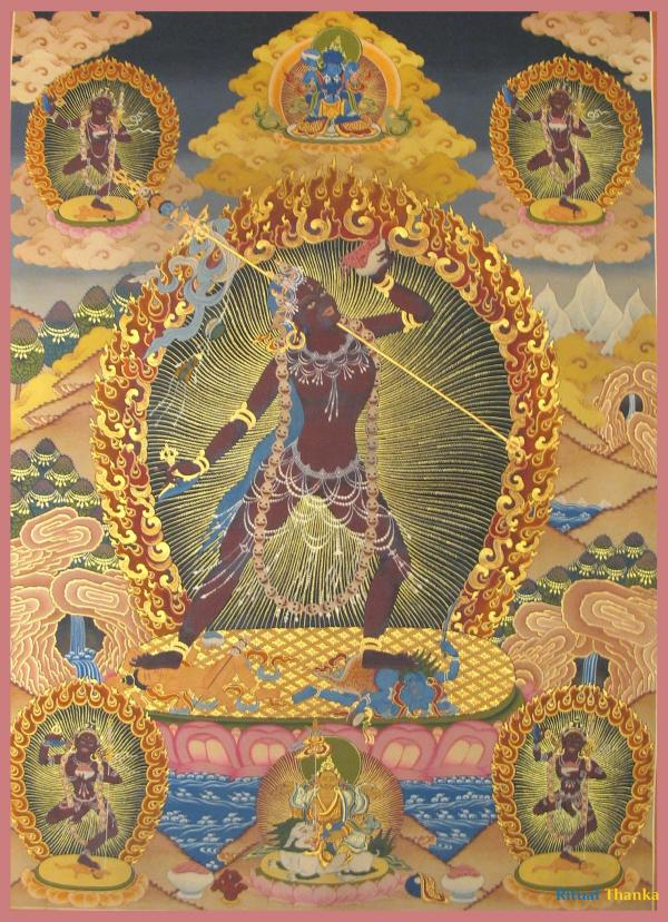 Vajrayogini in Tibetan Style colors with pure 24k gold