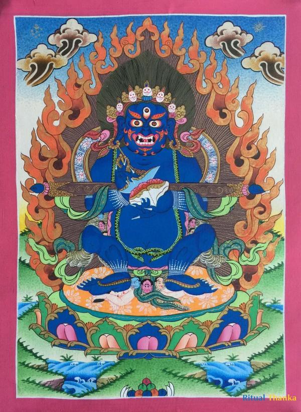 Shakyapa Mahakala Thangka
