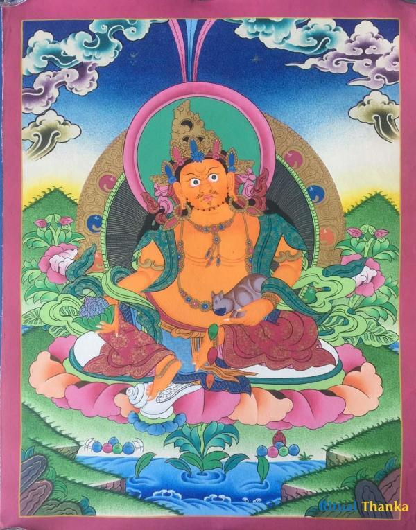 Dzambala or jambala Thanka