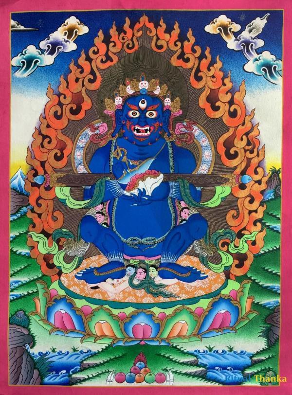 Sakya Mahakala Thangka