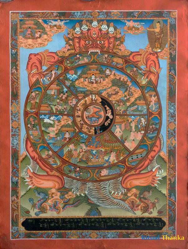 Medium Wheel of Life Thangka