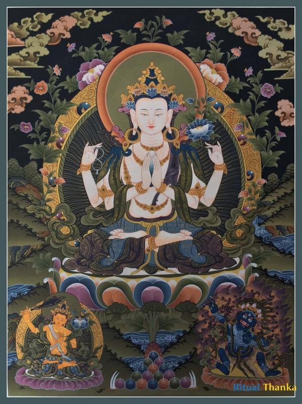 Avalokiteshvara   Chenrezig Thanka