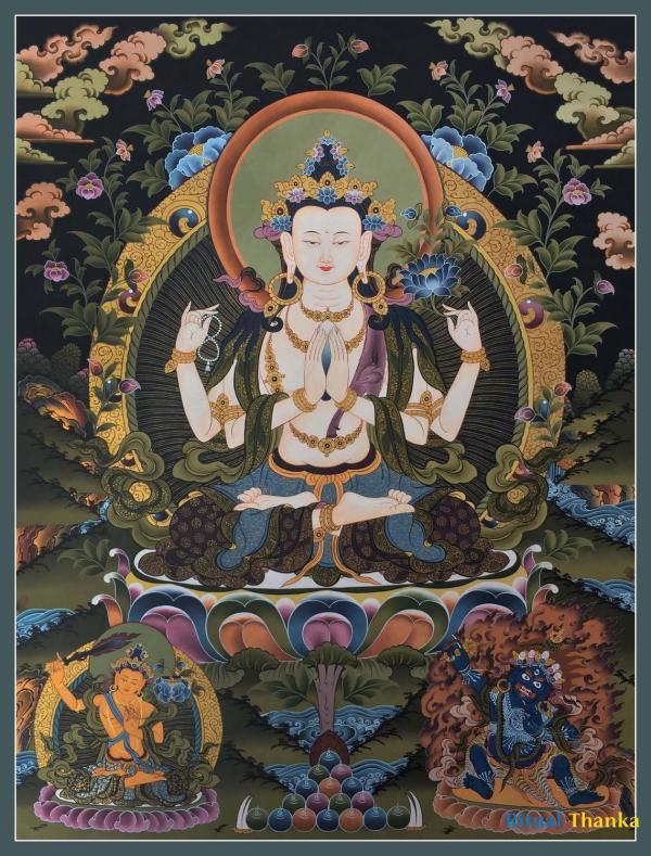 Avalokiteshvara   Chenrezig Thangka