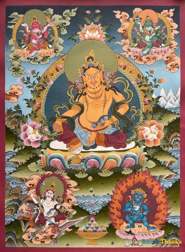 Pancha/Five Dzambala or jambala Thangka