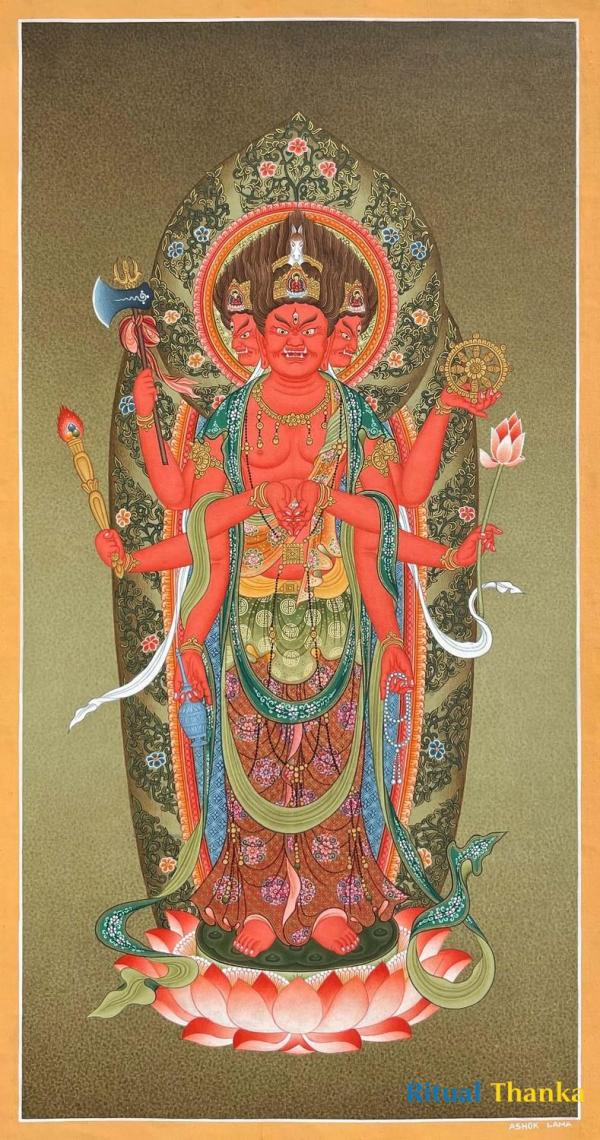 Rare find masterpiece - The Bodhisattva with Horse Head