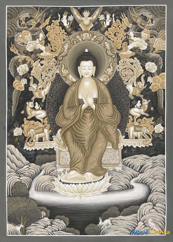 Maitreya Thangka( B & W)