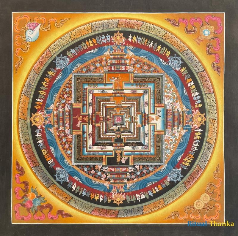 Kalchakra Mandala Thangka