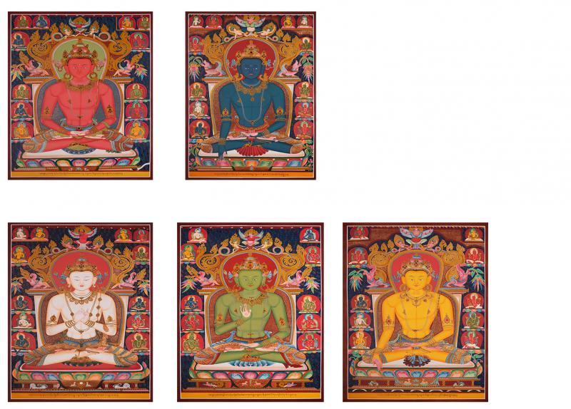 Newari 5 Dhyani Buddhas