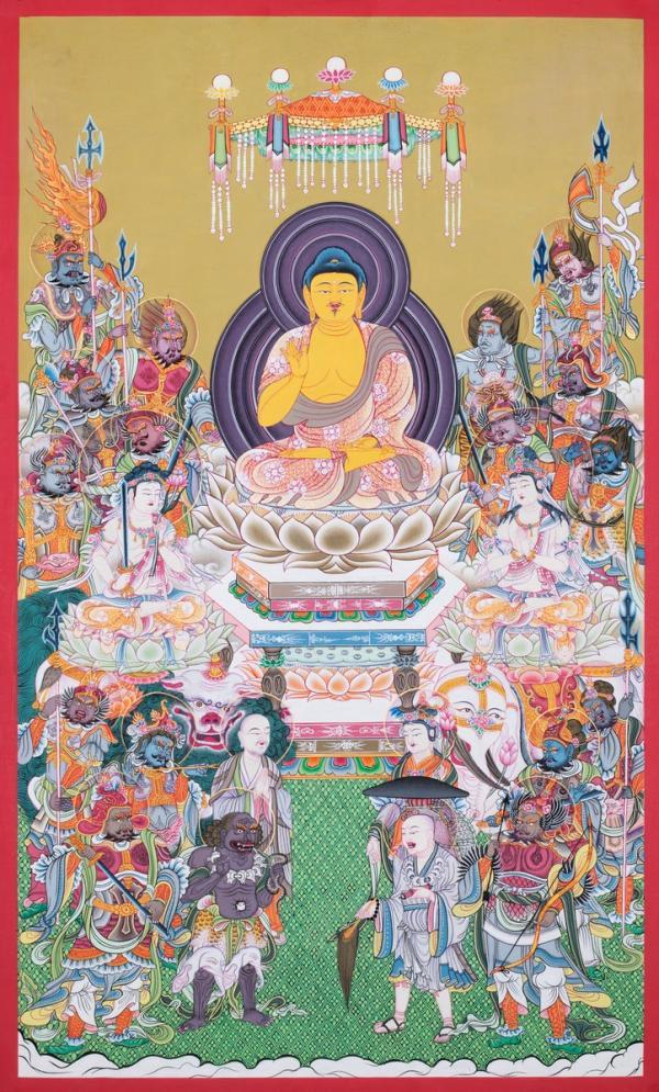 Buddha  thangka painted in Japanese style