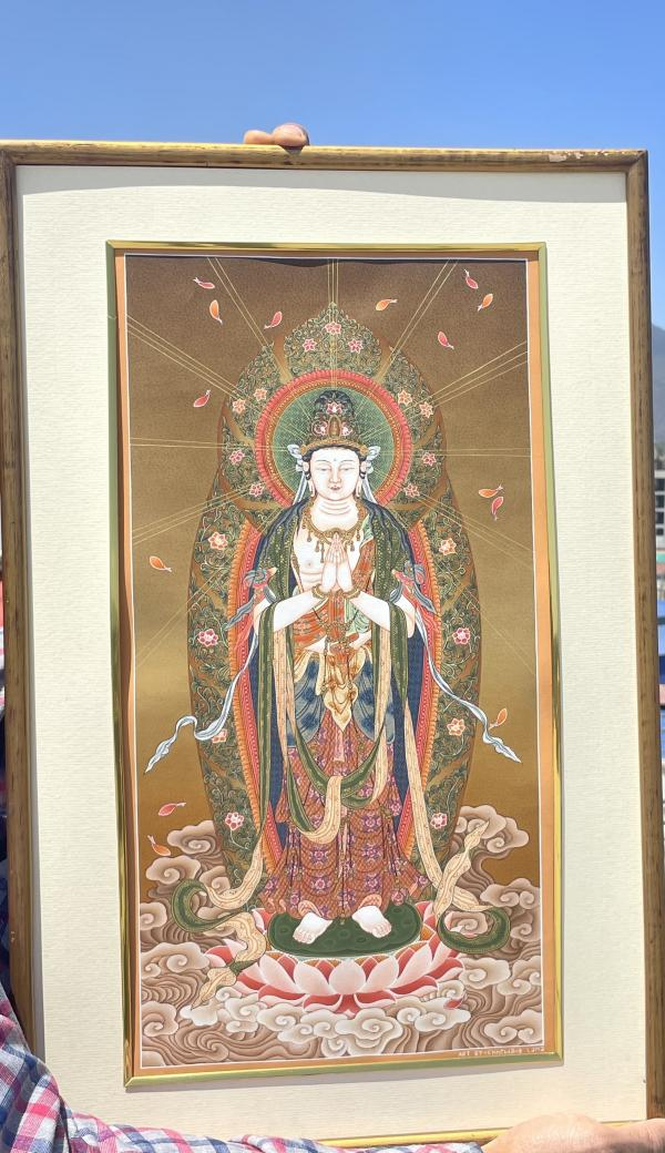 Clasped Hands Japanese style Boddhisattva/Kannon, Goddess of Mercy, Lord of Compassion
