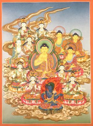 The 13 buddhas of the Shingon school Janpanese style