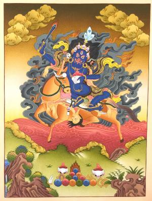 Palden Lhamo pricipal female wisdom protector of Tantric Buddhism