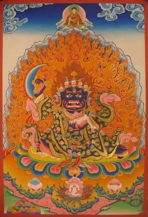 Two armed Bernagchen Mahakala the special protector of the Karma Kagyu Lineage