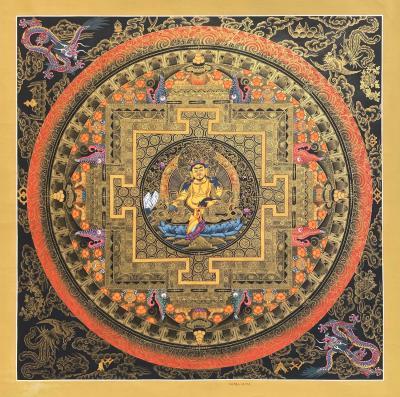 Dzambala Mandala Thangka