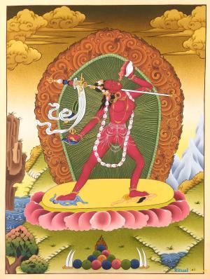 Vajrayogini or consort of Chakrasamvara