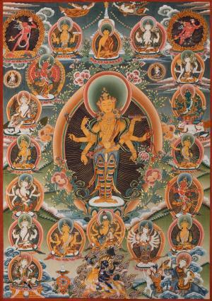 Amoghpasha Lokeshvara Thangka