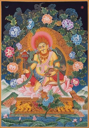 Wealth Deity Kubera Thangka, Newari Thangka