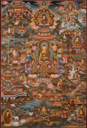 Large size very fine quality Buddha Life Story