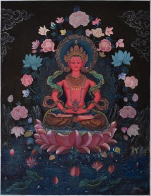 Amitayus buddha thanka in Newari Style