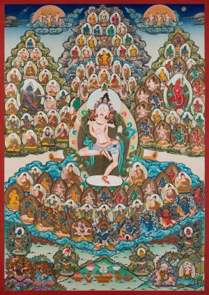 Machig Labdron Lineage or Refuge Tree in Medium Size according to Chod Practice