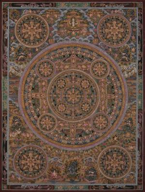Five Mandalas Thangka
