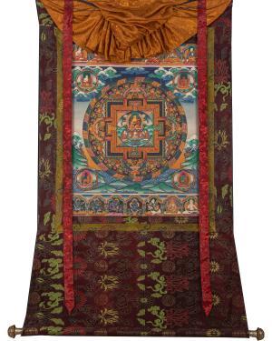 Shakyamuni Buddha Mandala with brocade
