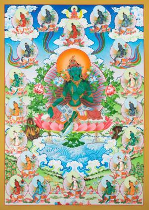 21 Green Taras Thangka