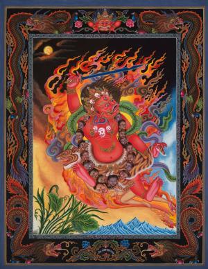 Red Bhairava Mahakala Thangka