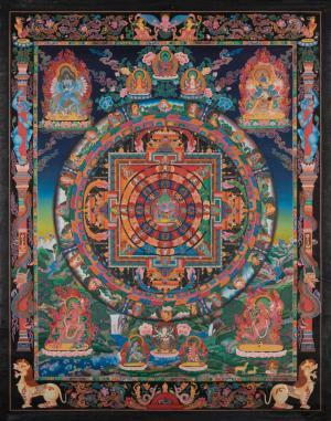 Chakra Sambhara Mandala with 24 carat gold work