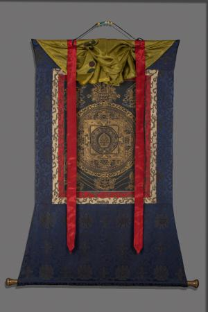 Original Vintage  Lokeshvara Mandala thanka